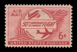 U.S. Scott # C  47, 1953 6c Powered Flight, 50th Anniversary