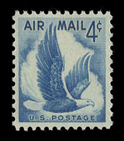 U.S. Scott # C  48, 1954 4c Eagle in Flight