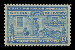 U.S. Scott # E 17, 1944 13c Messenger and Motorcycle - Rotary Press, Perf. 11 x 10 1/2