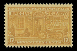 U.S. Scott # E 18, 1944 17c Messenger and Motorcycle - Rotary Press, Perf. 11 x 10 1/2