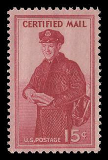 U.S. Scott # FA 1, 1955 15c Letter Carrier