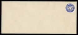U.N.N.Y. Scott # U  2L, 1958 4c U.N. Emblem, dark blue - Mint Envelope, Large  Size