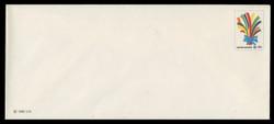 U.N.N.Y. Scott # U  7L, 1985 22c Bouquet of Ribbons - Mint Envelope, Only exists Large Size