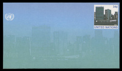 U.N.N.Y. Scott # U 14, 2001 34c UNNY Headquarters - Mint Envelope, Only exists Small Size