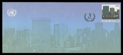 U.N.N.Y. Scott # U 17, 2002 34c +3c UNNY Headquarters - Mint Envelope, Only exists Large Size