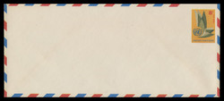 U.N.N.Y. Scott # UC  6L, 1963 8c U.N. Emblem - Mint Envelope, Large  Size