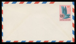 U.N.N.Y. Scott # UC  8 S, 1969 10c U.N. Emblem - Mint Envelope, Small Size