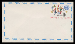 U.N.N.Y. Scott # UC 10 S, 1973 11c Birds in Flight - Mint Envelope, Small Size