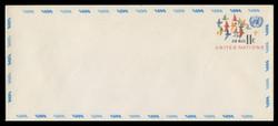 U.N.N.Y. Scott # UC 10L, 1973 11c Birds in Flight - Mint Envelope, Large  Size