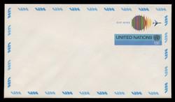 U.N.N.Y. Scott # UC 11 S, 1975 13c Globe & Jet - Mint Envelope, Small Size