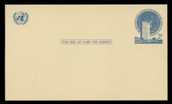 U.N.N.Y Scott # UX  1, 1952 2c U.N. Headquarters - Mint Postal Card