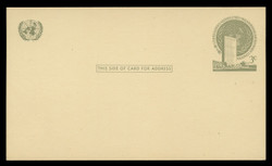 U.N.N.Y Scott # UX  2, 1958 3c U.N. Headquarters - Mint Postal Card