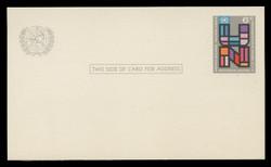 U.N.N.Y Scott # UX  5, 1973 6c U.N., Multicolored - Mint Postal Card