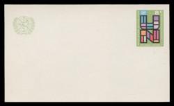 U.N.N.Y Scott # UX  6, 1975 6c U.N., Multicolored - Mint Postal Card