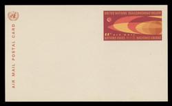 U.N.N.Y. Scott # UXC  5, 1966 11c Earth & Moon - Mint Postal Card