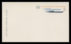 U.N.N.Y. Scott # UXC  7, 1969 8c U.N. Emblem & Stylized Planes - Mint Postal Card