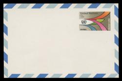 U.N.N.Y. Scott # UXC 11, 1975 18c U.N. Emblem & Pathways - Mint Postal Card