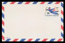 U.N.N.Y. Scott # UXC 12, 1982 28c Flying Mailman - Mint Postal Card