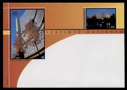 U.N.VIEN Scott # U  5, 2002 E1.09 Vienna International Center - Mint Envelope