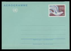 U.N.VIEN Scott # UC  1, 1982 9s Peace Dove - Mint Air Letter Sheet, Folded
