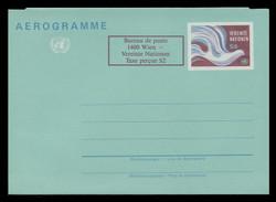 U.N.VIEN Scott # UC  2, 1986 9s +2c Peace Dove (UC1) - Mint Air Letter Sheet, Folded