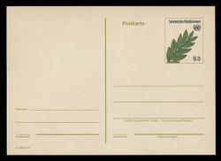 U.N.VIEN Scott # UX  1, 1982 3s Olive Branch - Mint Postal Card