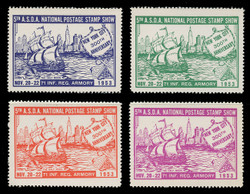 ASDA 1953 (5th) Stamp Show, Hudson's Half Moon,  Perforated (Set of 4)