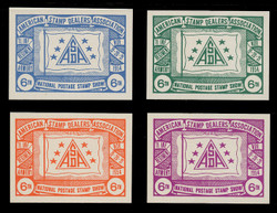 ASDA 1954i (6th) Stamp Show, Flag and Stars,  Imperforate (Set of 4)