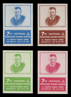 ASDA 1955i (7th) Stamp Show, Theodore Roosevelt,  Imperforate (Set of 4)