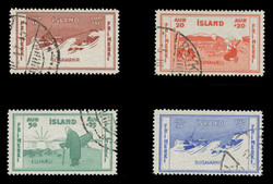 ICELAND Scott # B  1-4, 1933 Various Charities, USED (Set of 4)