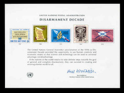 U.N. Souvenir Card #  3 - Disarmament Decade