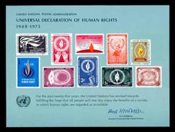 U.N. Souvenir Card #  4 - Declaration of Human Rights