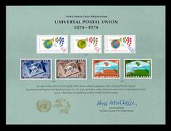U.N. Souvenir Card #  5 - Universal Postal Union