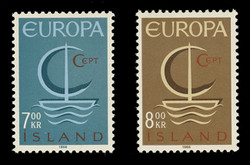 ICELAND Scott #  384-5, 1966 EUROPA Issue (Set of 2)