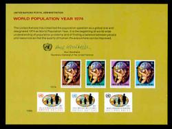 U.N. Souvenir Card #  6 - World population Year