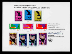 U.N. Souvenir Card # 13 - Namibia: Liberation, Justice, Co-Operation