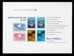 U.N. Souvenir Card # 14 - Civil Aviation; Safety in the Air