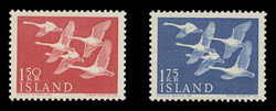 ICELAND Scott #  298-9, 1956 Northern Countries Issue - Whooper Swans (Set of 2)