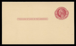 U.S. Scott # UY 13 Type 2, 1951 2c George/Martha Washington - Mint Message-Reply Card - FOLDED (See Warranty)