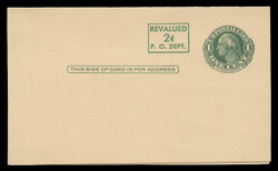 U.S. Scott # UY 15, 1952 2c on 1c Washington (Green) - Mint Message-Reply Card - FOLDED (See Warranty)