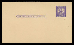 U.S. Scott # UY 17 Type 1, 1958 3c Statue of Liberty - Mint Message-Reply Card - FOLDED (See Warranty)