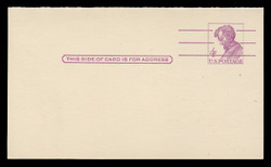 U.S. Scott # UY 18  T2, 1962 4c Abraham Lincoln, Precancelled - Mint Message-Reply Card - FOLDED (See Warranty)