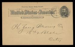 U.S. Scott # UX  10T2, 1891 1c Ulysses S. Grant, black on buff, Type II - Used Postal Card (See Warranty)