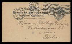 U.S. Scott # UX  16, 1898 2c Liberty Head, black on buff, no border - Used Postal Card