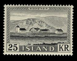 ICELAND Scott #  305, 1957 Bessastadir, the President's Residence