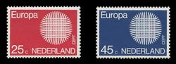 NETHERLANDS Scott # 483-4, 1970 Europa - Interwoven Threads (Set of 2)