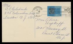 U.S. Scott # UX  53, 1965 4c Census Bureau - Used Postal Card