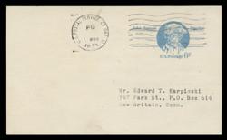U.S. Scott # UX  64/UPSS #S81a, 1972 6c John Hanson - Patriot Series - Used Postal Card, SMOOTH PAPER (See Warranty)
