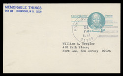 U.S. Scott # UX  70, 1976 9c Caesar Rodney - Patriot Series - Used Postal Card