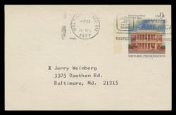 U.S. Scott # UX  71, 1977 9c Federal Court House, Galveston, Texas - Used Postal Card